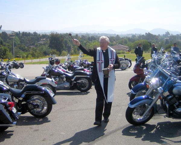 Motorcycle Mass and Blessing of the Bikes Day