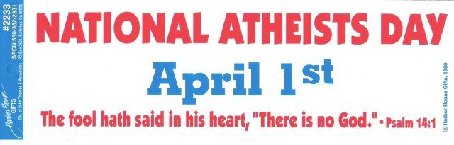 National Atheist's Day