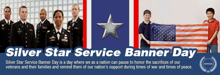 Silver Star Service Banner Day