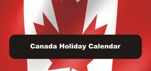 2018 Canadian Holiday Calendar