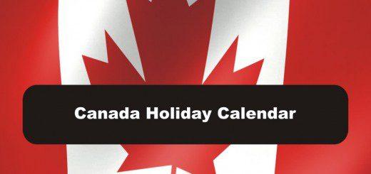 2019 Canadian Holiday Calendar